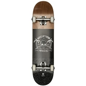 Globe Por Vida Mini Complete Skateboard - Brown/Black 7.6
