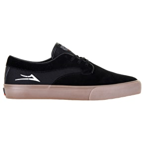 Lakai Riley Hawk Skate Shoes - Black/Gum Suede