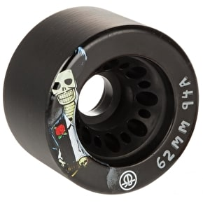 Rollerbones Day Of The Dead Quad Skate Wheels - Black 62mm 94A (4 Pack)