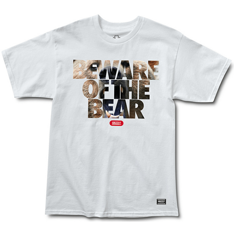 Grizzly Predatory Attack T-Shirt - White