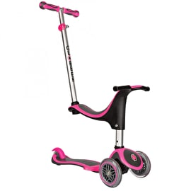 Globber Evo 4-In-1 Plus Complete Scooter - Neon Pink