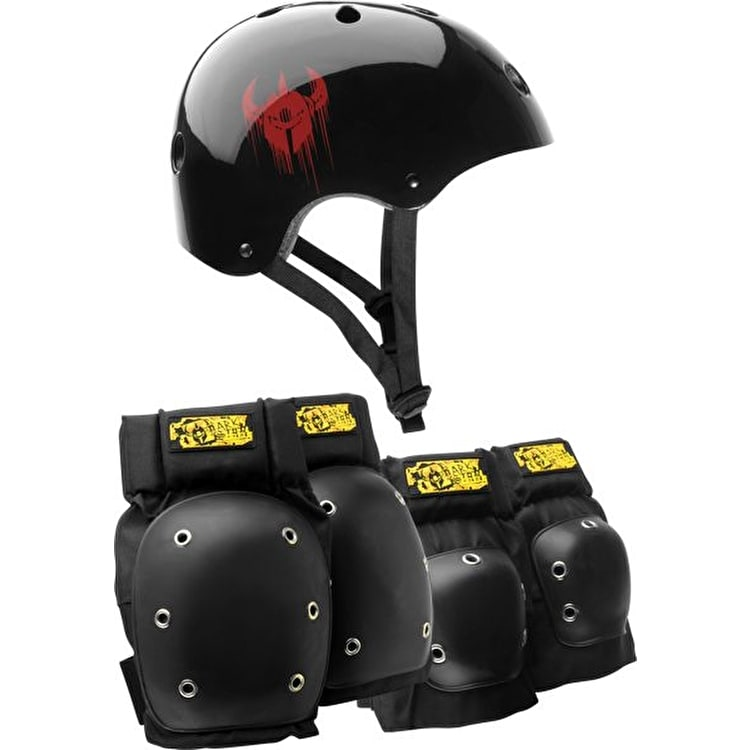 Darkstar Helmet and Pad Set - Black