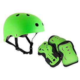 SFR Essentials Helmet & Pad Set Bundle - Green