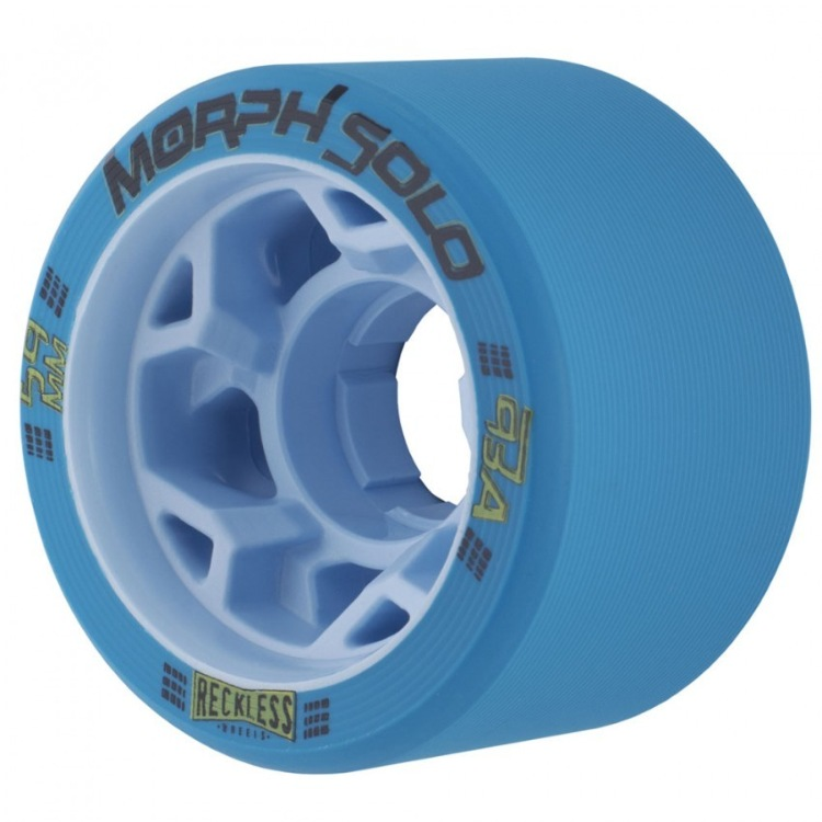 Reckless Morph Solo 59mm Roller Skate Wheels - Blue 93a (Pack of 4)