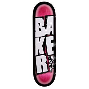 Baker Theotis Stacked Name Skateboard Deck - 8.475