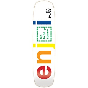 Enjoi Skateboard Deck - Hip To Be Square R7 White 8.375