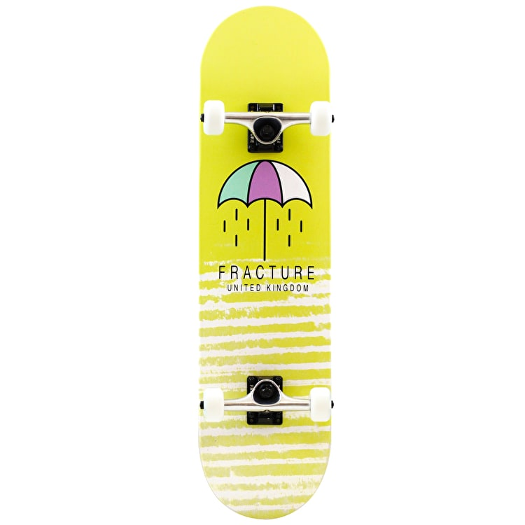 Fracture Brolly Complete Skateboard - Yellow 8""
