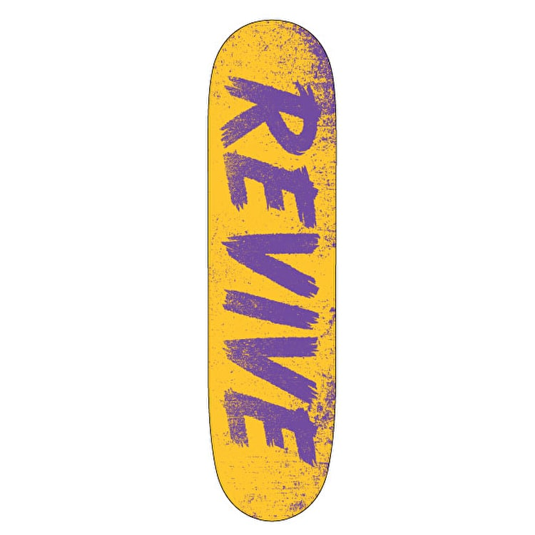 ReVive Scratch Skateboard Deck - Yellow/Purple