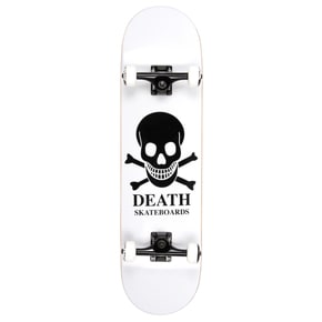 Death OG Skull Custom Skateboard - White 8