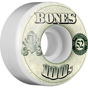 Bones OG 100'S #11 V4 Skateboard Wheels - White