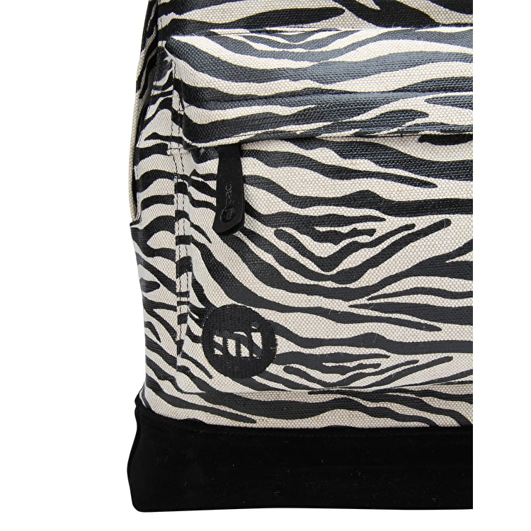 Mi-Pac Canvas Zebra Backpack - Black/White