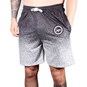Hype Speckle Gradient Shorts - Black/White