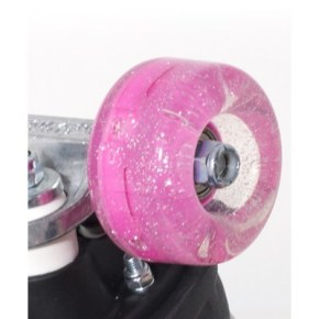 Rio Roller Light Up Quad Roller Skate 54mm Wheels- Pink Glitter