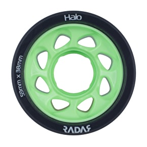 Radar Halo 59mm Roller Skate Wheels x 4 - Charcoal/Green 97A