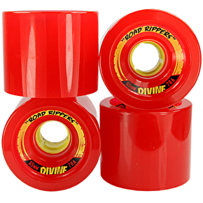 Divine Road Rippers 65mm 78a Longboard Wheels - Red (Pack of 4)