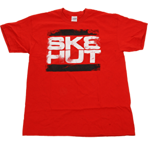 Skatehut Run Sk8hut Adult T-Shirt - Red