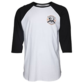 Santa Cruz Posse 3/4 Sleeve Baseball T-Shirt - Black/White