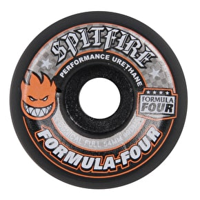 Spitfire Formula Four Conical 99D Skateboard Wheels - Black 54mm