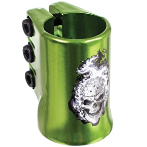 MGP Oversized Madd Hatter Triple Collar Clamp - Green