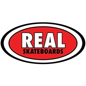 Real Oval Classic Skateboard Sticker - M