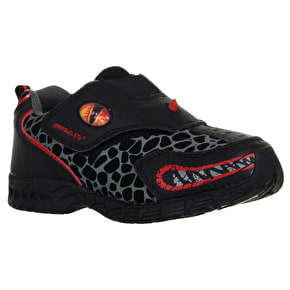 Dinosoles Dinofit Kids Shoes - Growler Black/Red