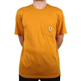 Element Basic Pocket Label T Shirt - Mineral Yellow