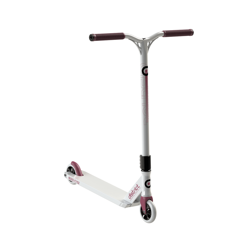 Image of District C-Series C152 Complete Scooter - White/Red