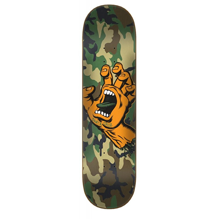 Santa Cruz Screaming Hand Camo Skateboard Deck - 8.25""