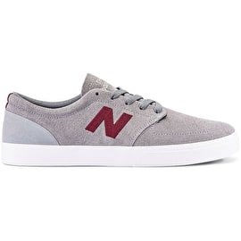 New Balance 345 Skate Shoes - Grey/Burgundy