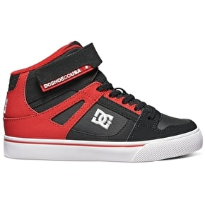 DC Spartan High Kids Skate Shoes - Black/Red