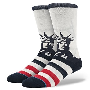 Stance Lady Liberty Socks - White