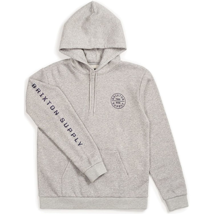 Brixton Oath II Hoodie - Heather Grey