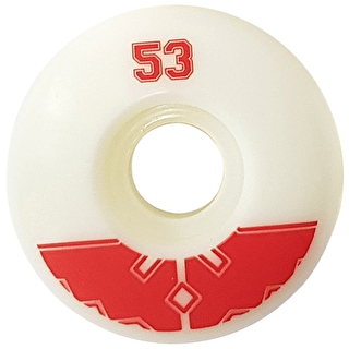 Fracture Uni Pro Skateboard Wheels - Red 53mm