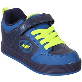 Heelys X2 Thunder - Navy/Royal/Neon Yellow