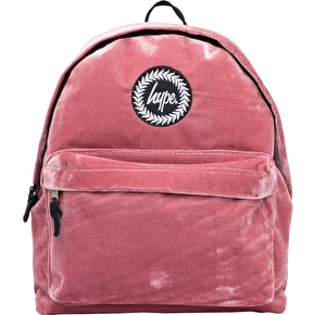 Hype Velour Backpack - Dusty PInk