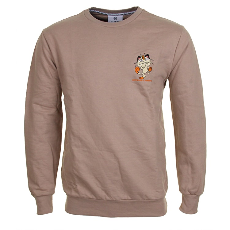 Hype X Pokemon Meowth Embroidery Crew Neck