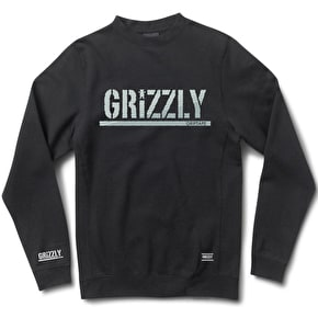 Grizzly Shade Stamp Crewneck - Black