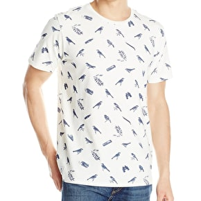 WeSC Birds And Ammo T-Shirt - Winter White