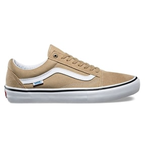 Vans Old Skool Pro Skate Shoes - Khaki/White