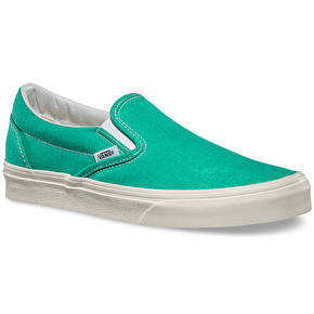 Vans Classic Slip-On Shoes - (Washed) Pool Green UK Size 6 (B-Stock)