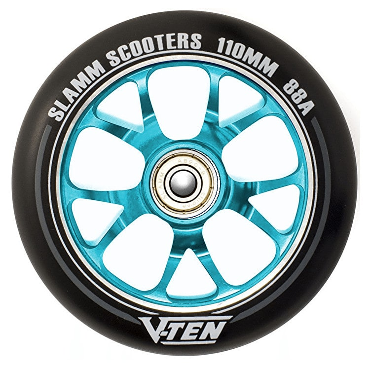 Slamm V-Ten II 110mm Aluminium Core Scooter Wheel - Black/Blue