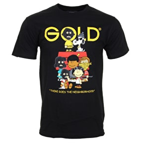 Gold Wheels Gold Gang T-Shirt - Black