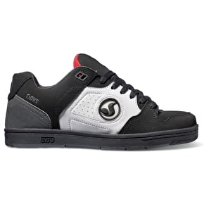 DVS Discord Skate Shoes - Black/White/Red