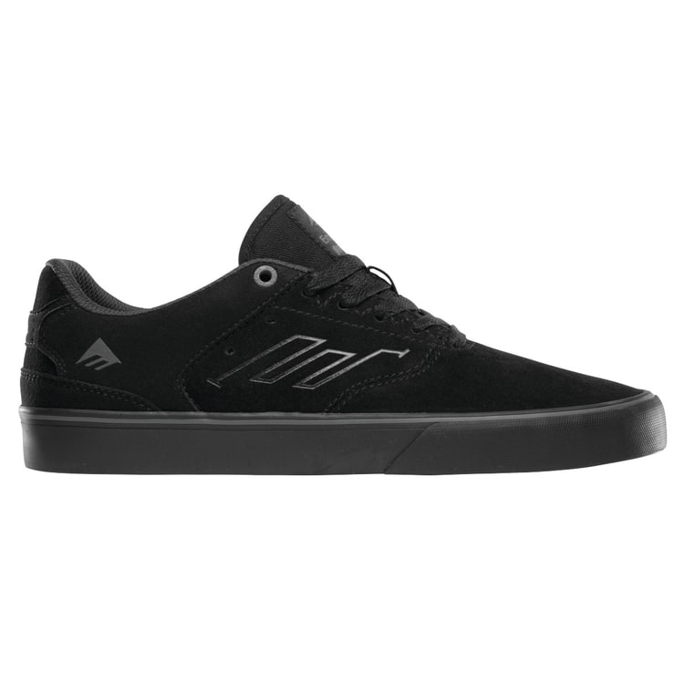 Emerica The Reynolds Low Vulc Skate Shoes - Black/Black/Grey