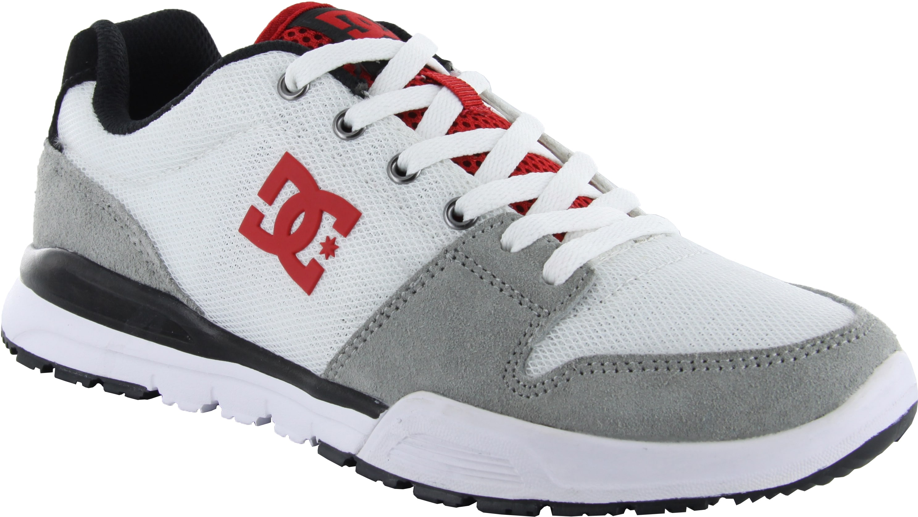 Image of DC Alias Lite Shoes - White/Grey/Red