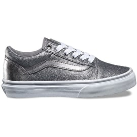 Vans Old Skool Kids Skate Shoes - (Glitter + Metallic) Frost Grey