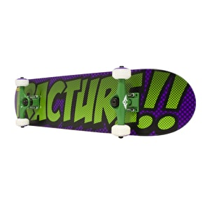Fracture Comic 3 Skateboard - Purple/Green 7.5