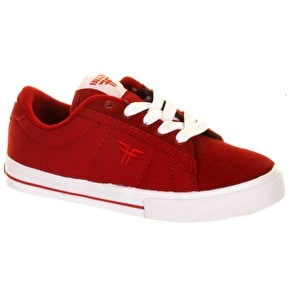 B-Stock Fallen Bomber Kids Shoes - Red/White - UK 3 (Box Damage)