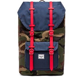 Herschel Little America Backpack - Camo/Navy/Red Rubber