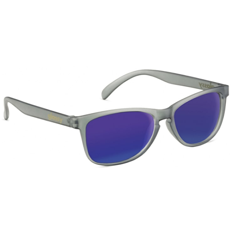 Glassy Sunhaters Deric - Transparent Grey/Blue Mirror